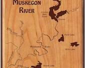 MUSKEGON RIVER Map Fly Bo...