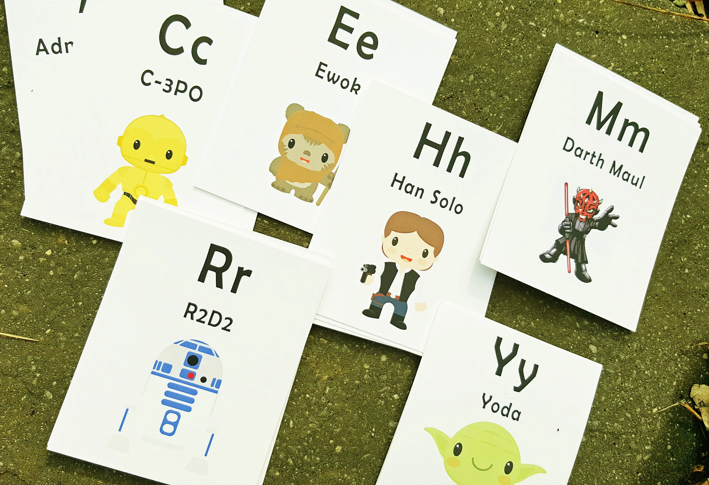 Flash Cards Star Wars Alphabet Cards Learning Toys