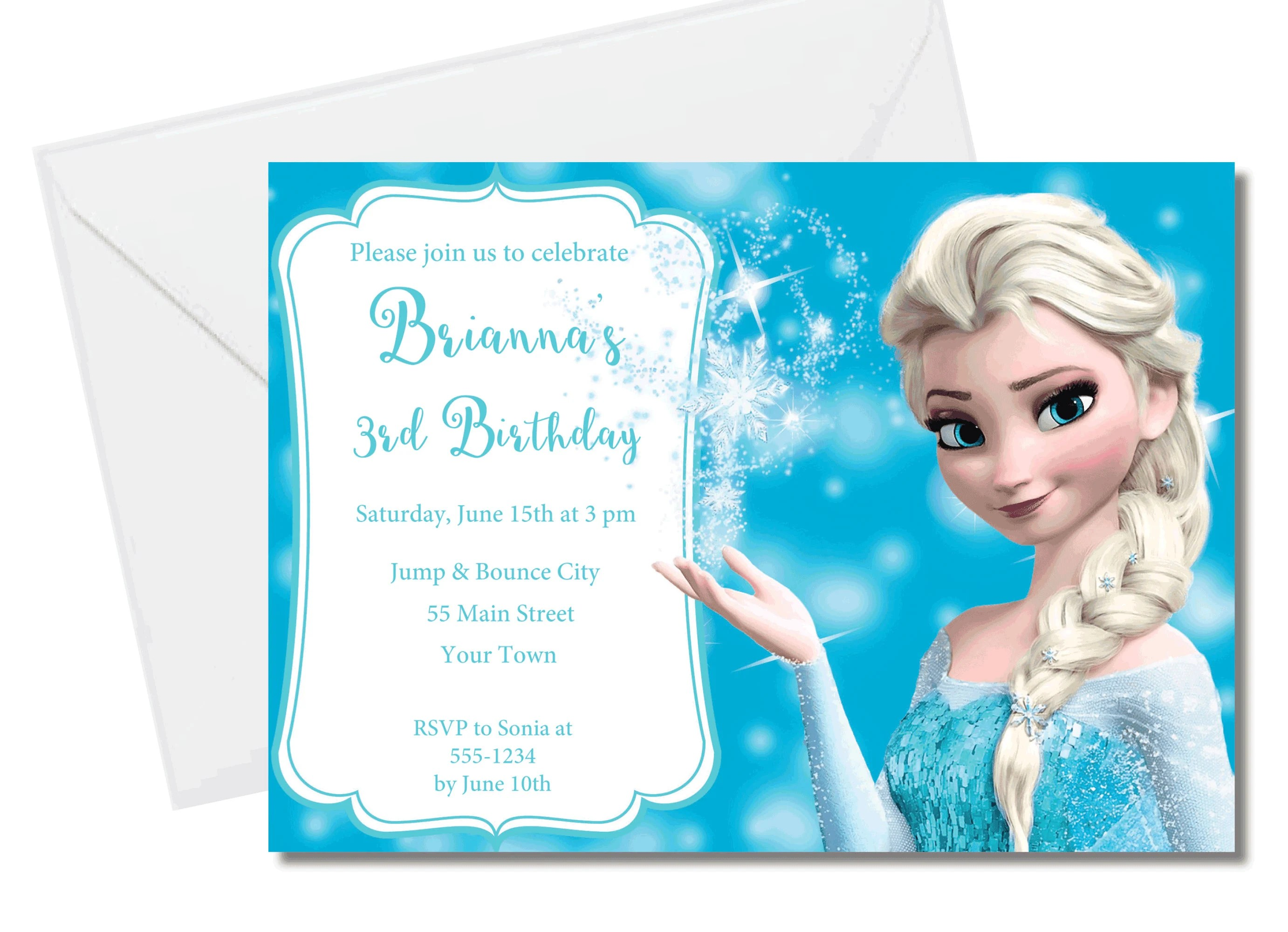frozen birthday invitation instant