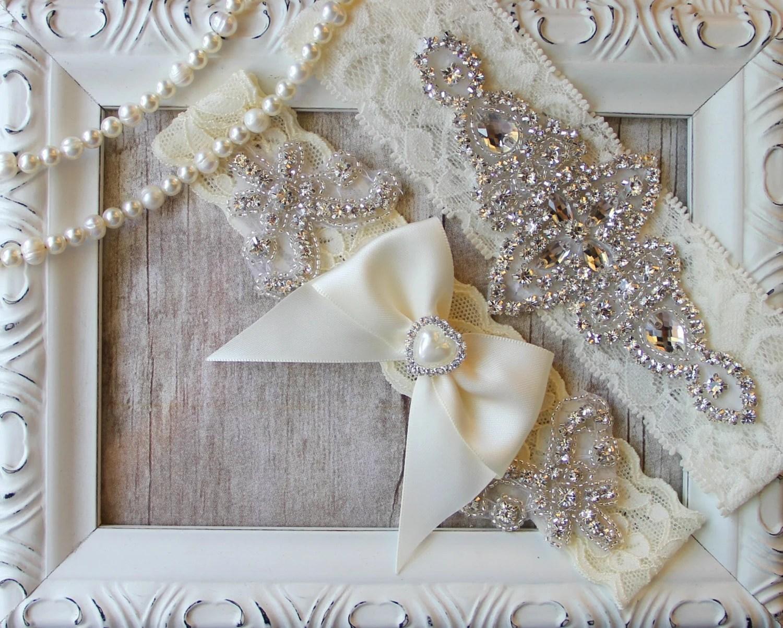 Garter Set Personalized Gift Wedding Garter Set W/
