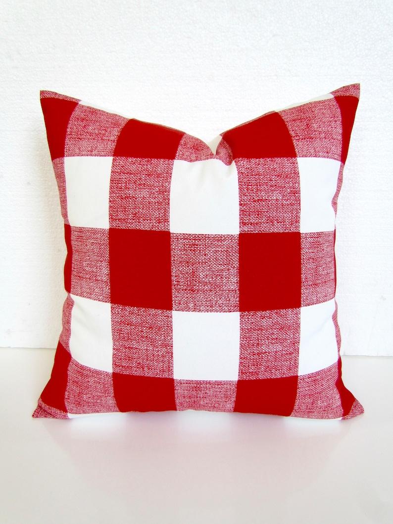 red buffalo check outdoor pillows red buffalo check outdoor throw pillow covers red outdoor pillows 16 18 20x20 all sizes