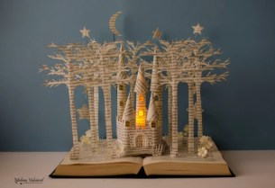 Fairytale Castle Book Sculpture Book Art Altered Book | Etsy