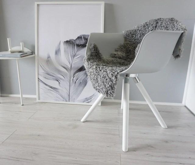 Genuine Exclusive Swedish Gotland Sheepskin Rug Soft Curly Wool Natural Grey Silver Ash Mix Sg