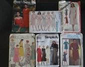 Lot of Six Vintage Size 12 - 20 Dress Patterns - Uncut Unused Patterns - Butterick - McCall's - Simplicity Patterns - Misses Dress Pattern