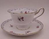 "1950s Vintage Shelley English Bone China 13754 ""Charm"" Demitasse Cappuccino Espresso Teacup and Saucer Elegant English Tea Cup"
