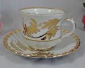 1960s James Kent Old Foley English Bone China Teacup Gold English Teacup and Saucer English Tea cup