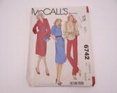 Uncut McCall's 6742 Pattern - Size 10-12-14 - Women's Dress and Blouse Pattern - Women's Tunic Dress Tunic Blouse Pattern - 1970s Pattern