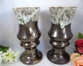 1930s Vintage Brush McCoy #719 Pedestal Pottery Vases