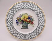 "Vintage Villeroy & Boch Germany ""Basket"" Salad Plate - 8 Available Luncheon Sandwich"