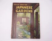 """1968 First Edition Second Printing Sunset """"Ideas for Japanese Gardens""""  from Sunset Magazine Architecture Design Softcover Book"""