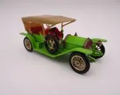 1960s  Vintage Lesney Matchbox Y-9 Models of Yesteryear 1912 Lime Green Simplex Diecast Car