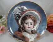 """Franklin Mint Heirloom Recommendation Hanau Doll Museum """"Madeline"""" Limited Edition Collector Plate"""