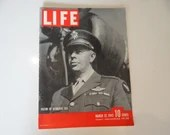 1943 Life Magazine War Issue , March 22, Victor of Bismark Sea - America Makes Planes in India - Sinking of the President Coolidge