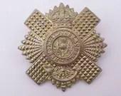 Vintage WW1 British Military Hat Cap Badge The Royal Scots Lothian Regiment