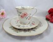"Vintage Gorham USA ""Chinoiserie"" Tea Trio Teacup and Saucer Charming American Tea Cup"