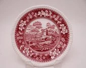 """Vintage Spode Made in England """"Spode Tower"""" Pink Bread and Butter Plate - 4 Available"""