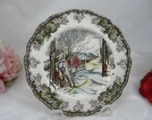 "Vintage Johnson Bros Staffordshire ""Friendly Village"" Bread and Butter Plate - 6 available"