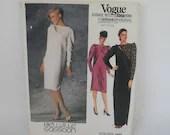 Vintage Vogue 1452 Bellville Sassoon Dress Pattern Size 16 - Uncut Unused