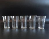 Set of 5 Vintage Clear Elegant Orange Juice or Large Shot Glasses