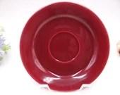 Vintage Bauer Pottery Plain Ware  Burgundy or Maroon Saucer