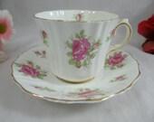 1930s Old Royal English Bone China Pink Rose Teacup English Teacup and Saucer Charming Tea Cup