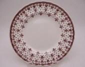 "1950s Vintage Spode English Bone China ""Fleur de Lys"" Brown Salad Plate"