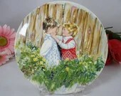 """1981 Wedgwood Queen's Ware """"Be My Friend"""" from the My Memories Plate Series by Mary Vickers"""