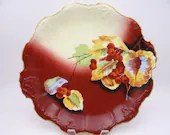 """c1900-14 Factory Decorated Coiffe Blackeman & Henderson Limoges France Hand Painted Artist Signed """"Murray"""" Cabinet Plate or Charger"""