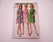 Near Mint 1960s Vintage Simplicity #7558 MATERNITY Dress Pattern - Size 10 - Uncut 1960s Jackie Kennedy Style Dress - Mid Century Modern