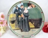 """1987 Edwin Knowles Norman Rockwell """"An Orphans's Hope"""" Collector Plate Limited Edition"""