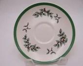 Vintage Spode Christmas Tree English Teacup Saucer -  7 Available