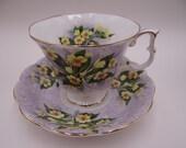 "Vintage Royal Albert English Bone China Festival Series ""Adelphi"" English Teacup and Saucer set  Tea Cup"