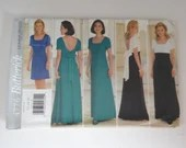 Vintage Butterick Pattern #4776 Size 12 14 16 Women's Long Formal Dress Pattern with High Waist, Bow Back and V Back