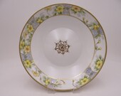 Spectacular Antique Hand Painted Nippon Gold Outlined Yellow Daisy Fruit or Centerpiece Bowl