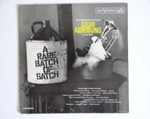 """Rare 1961 First Issue and First Pressing RCA Victor Louis Armstrong LP Album LPM-2322 - """"A Rare Batch of Snatch"""" - Jazz Album"""