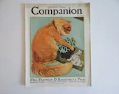 August 1933 Womens Hom Companion Magazine - Mrs. Roosevelts Page - Women's Fashion - Embroidery