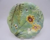 """Vintage Spode English Bone China """"Floral Haven"""" Sculpted Luncheon Plate  - 2 Available."""