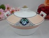 1930s Antique Vintage Noritake Covered Bowl Candy Dish