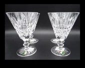 """NOS - Set of Four Waterford Crystal """"Tranmore"""" Water Goblets in Original Box"""