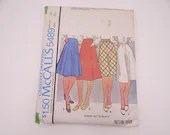 Vintage 1970s McCall's Pattern #5489 Size 1 - 1970s Skirt Pattern - Vintage Women's Panel Skirt Pattern - Cut Comple