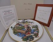 "Vintage Lenox Metropolitan Opera Plate ""Madame Butterfly"" in Original Box and Certificate"
