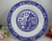Royal Cuthbertson Blue and White Willow Ware Dinner Plate