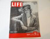 1943 Life Magazine War Issue , February 15, Princess Elizabeth - Battle of Buna - Malta