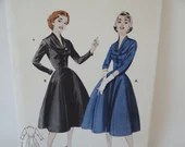 Vintage Butterick Pattern #7100- Size 14 - Women's Dress Sewing Pattern - UNCUT & Complete - 1950s 1960s Jackie O Style Classic Elegant