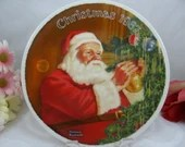 """1987 Norman Rockwell """"Santa's Golden Gift"""" Edwin Knowles  Collector Plate"""