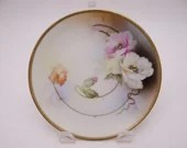 Vintage 1920s Hand Painted Royal Rudolstadt Small Floral Cabinet Plate
