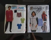 2 McCall's Sewing Patterns with Nancy Zieman 9525 & Suddenly You're Sewing wtih Daphne Maxwell 0091 Sizes 8 to 22 Top Jacket Beginner's