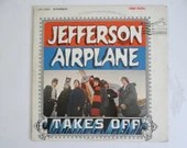 """Vintage 1966 RCA Victor Jefferson Airplane """"Jefferson Airplane Takes Off"""" LP Vinyl Record Album LSP 3594 Psychedelic Rock Classic Rock"""