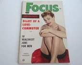 May 1957 Focus Pocket Sized Magazine - Diary of a Love Commuter