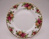 Delightful Vintage English Bone China Royal Albert Salad or Lunch Plate  - 20 Available